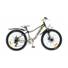 Велосипед 24 Optimabikes FLORIDA AM 14G  DD   St  черно-зелен.